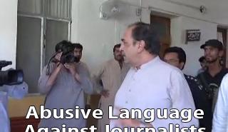 Abusive language by a Legislator against Journalists