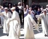 CJP in light moments during during traditional tunes in Gilgit-Baltistan