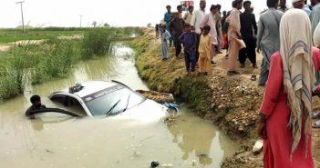 جعفر آباد: کار موٹر سائیکل کو ٹکر مارنے کے بعد نہر میں جا گری، نوجوان جاں بحق