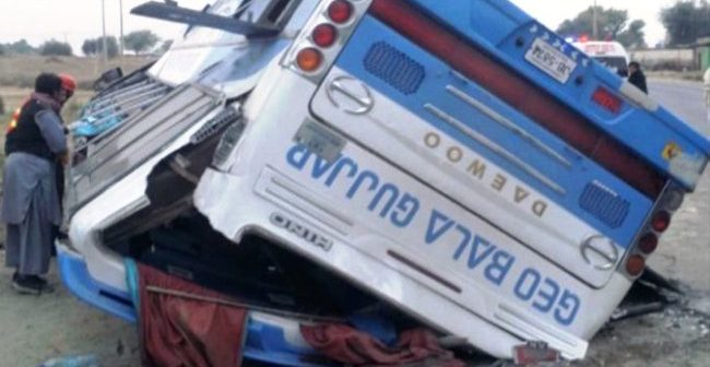 Three killed, others injured as bus plunges off bridge in Chakwal
