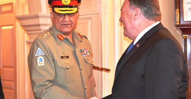 Army chief meets Pompeo during US State Dept visit: ISPR